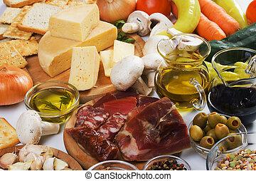 tradizionale, cibo, ingredienti