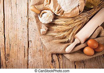 tradizionale, cucina, ingredienti