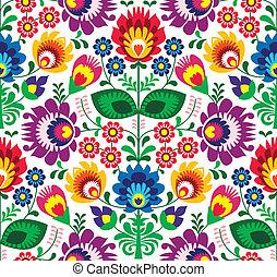 tradizionale, floreale, seamless, modello