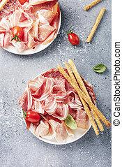 tradizionale, italiano, antipasto