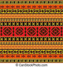 tradizionale, modello, africano
