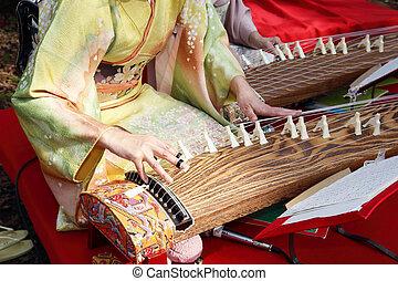 tradizionale, strumento, giapponese