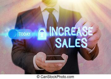 trafficare, affari, sales., parola, testo, prodotto, clienti, aumento, growth., scrittura, concetto, boosting, venduto
