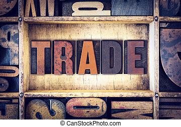trafficare, tipo, concetto, letterpress