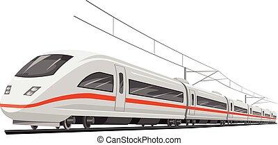 train., vettore, velocità