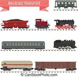 trains., set, ferrovia