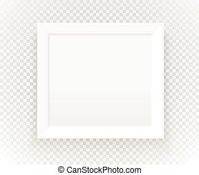 transparent., cornice, vettore, sagoma, photorealistic, presentazione