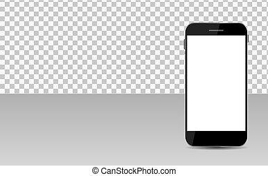 transperent, realistico, mobile, astratto, carta da parati, illustrazione, telefono, vettore, fondo., schermo