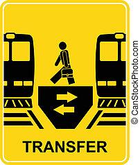 trasferimento, vettore, -, segno