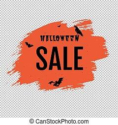 trasparente, fondo, goccia, manifesto, felice, halloween, vendita