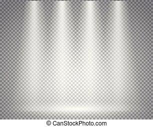 trasparente, palcoscenico, illuminato, fondo, riflettore