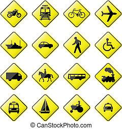 trasporto, segno, strada