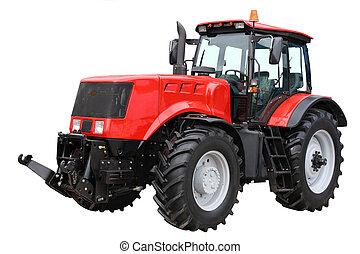 trattore, rosso