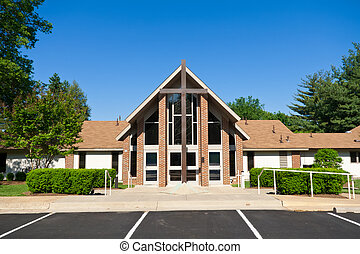 traversa chiesa, esterno, moderno, grande