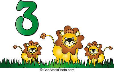 tre, numero