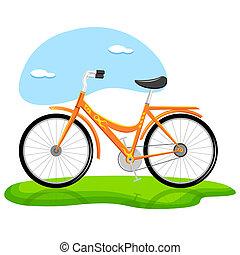 trendy, bicicletta