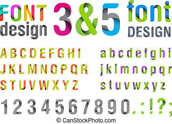 trendy, cima, new., font.