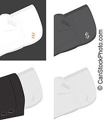 trendy, cufflinks, polsino, camicia