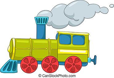 treno, cartone animato