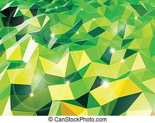 triangles., astratto, vettore, sfondo verde