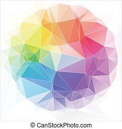 triangoli, stile, astratto, fondo, triangolare