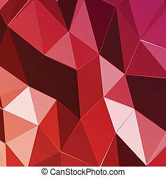 triangolo, astratto, fondo., vettore, geometrico, rosso