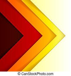 triangolo, astratto, forme, fondo, arancia, rosso