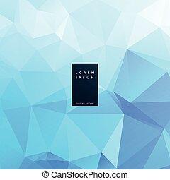 triangolo blu, astratto, vettore, disegno, fondo