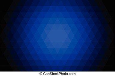 triangolo blu, illustration., astratto, fondo., vettore