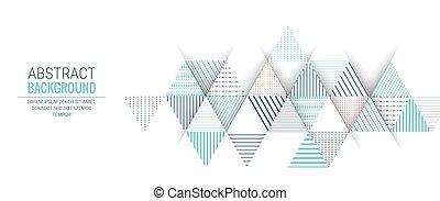 triangolo blu, modello, astratto, striscia, fondo, linea
