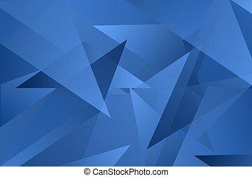 triangolo blu, ricoprire, astratto, vettore, fondo