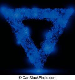triangolo blu, vettore