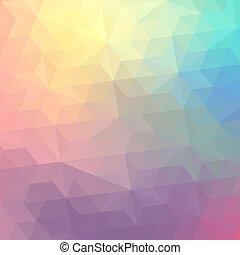 triangolo, colorito, banner., modello, shapes., text., hipster, retro, fondo, posto, geometrico, tuo, mosaico