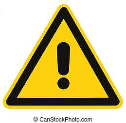 triangolo, pericolo, macro, isolato, segno pericolo, avvertimento, vuoto