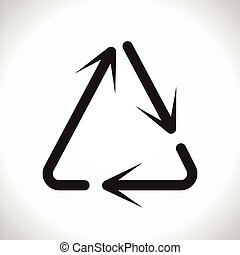 triangolo, riutilizzare, frecce, segno, vettore, freccia, circolare
