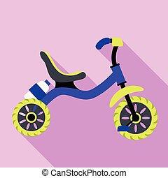 triciclo, icona, stile, appartamento