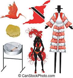 trinidad, tobago, icone