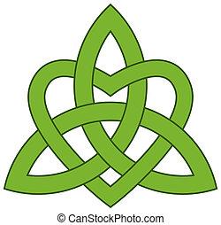 trinità, (triquetra), celtico, nodo