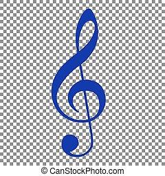 triplo, blu, clef., g-clef., segno., transp, musica, violino, chiave, icona