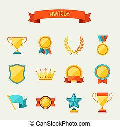 trofeo, set., premi, icone