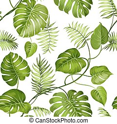 tropicale, foglie, design.