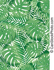tropicale, foglie