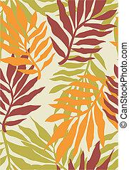 tropicale, modello, pianta, seamless