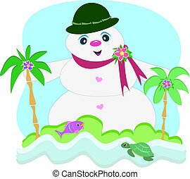 tropicale, pupazzo di neve