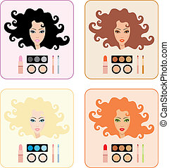 trucco, donne