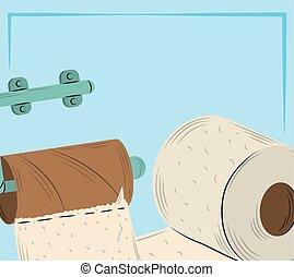 tubo, carta, marrone, supporto, vuoto, gabinetto, disegno, igiene