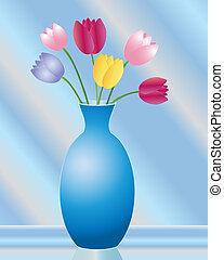 tulipano, vaso