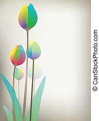 tulips, illustrazione