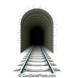 tunnel, entrata, ferrovia