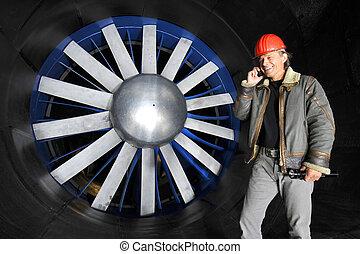 tunnel, vento, ingegnere